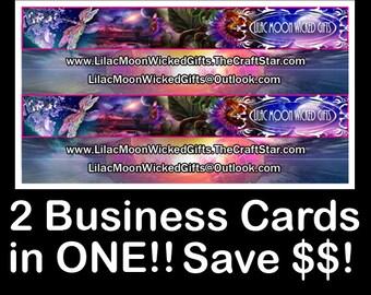 CUSTOM BUSINESS 2 in ONE Card Design!!/Custom Business Cards/Custom Hangtags/Product Packaging