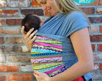 Lei Wrap Baby Carrier Sling Stretchy (multi stripe)