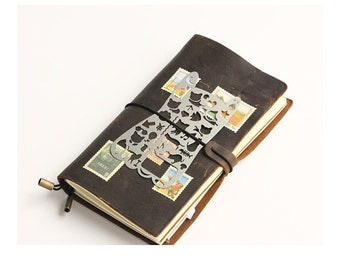 DIY Scrapbook Deco Notebook Metal Cat Shaped Ruler