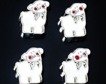 1 pcs Lamb Floating Charm for Living, Memory locket /E12