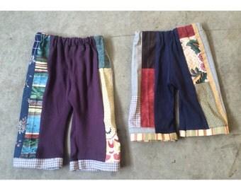 Baby patchwork pants organic cotton hippie boho