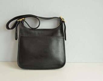 Vintage Coach Hobo Bag / Coach Black Leather Handbag Shoulder Bag