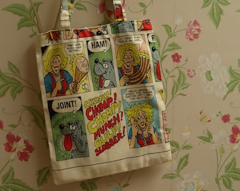 Comic inspired shopping bag - tote