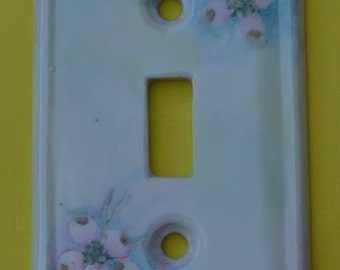 Hand Painted Porcelain Light Switch Plate