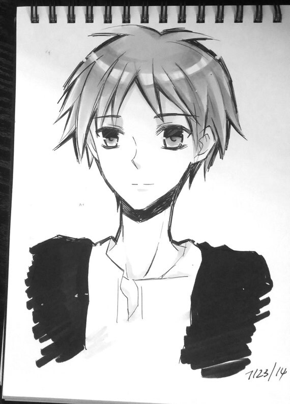 Attack on Titan Shingeki no kyojin original drawings Levi Mikasa Eren