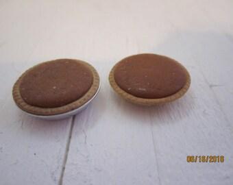 Two Miniature Pumpkin Pies     Free Shipping