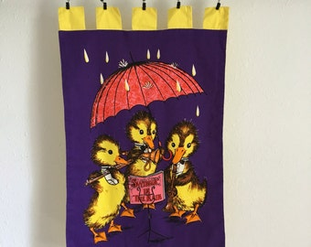 Little Duck Wall Hanging, Singin in the Rain