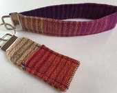 """Wrap Scrap Key and Chapstick Fob Duo, made from Upcycled Nejesa """"Canyon"""""""