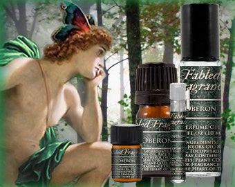 OBERON Cologne: Fairy King, Herbal Artemisia, Green Cognac, Tonka Bean, William Shakespeare, Vegan Solid Perfume, Ships Out in 4-7 Days