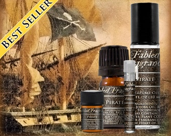 PIRATE Cologne: Tropical Fruit, Coconut Milk, Citrus Lime, Bay Rum, Ocean Water, Vegan Solid Perfume, Ships Out in 4-7 Days