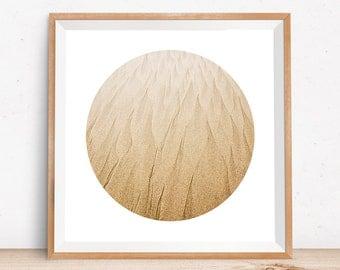 Beach art, beach photography, geometric, minimalist art, beach print, abstract circle print, ocean print, sand art, sand mandala, nature art