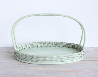 Vintage wicker tray- Free Shipping