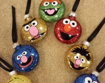 Sesame Street Character  Christmas Ornaments.