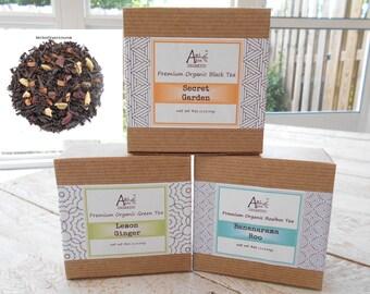 CHOCOLATE CHAI, Organic Loose Leaf Black Tea, Spicy Chai, Ginger, Cardamom, Cloves, Cinnamon, Caffeinated, 4oz Eco Box