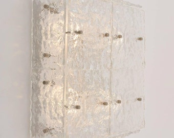 Wall panel sconce Murano glass flush mount chandelier
