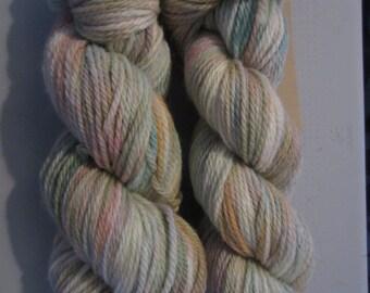BFL ARAN - 100% BFL yarn in Aran weight - non superwash - Pastel Sprinkles