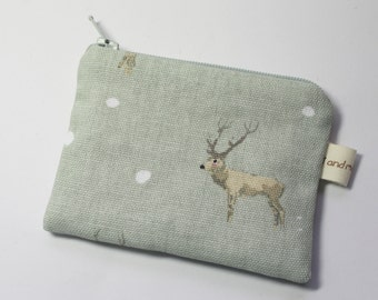 Coin purse, change purse, woodland stag and fawn