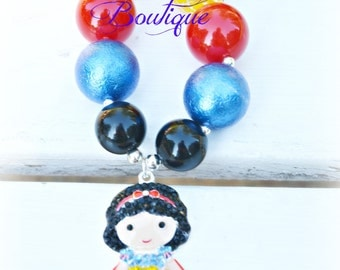 Princess Chunky Bead Necklace for Girls/Bubblegum Bead Necklace
