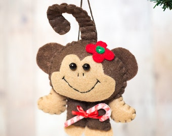 Felt Monkey Ornament - Female