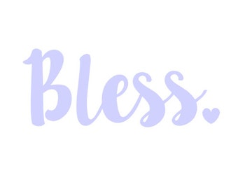 Bless Decal [Solid Color]