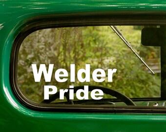 Welder Pride Decal, Car Decal, Welder Decal, Vinyl Sticker, Occupation, Laptop Sticker,Welder Stickers, Vinyl Decal, Car Stickers, Stickers