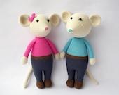 PDF Mouse Gigio and Gigie,  Crochet Toy,  DIY tutorial