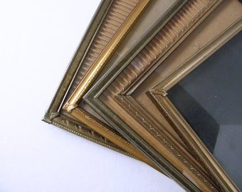 s/5 8x10 Shabby Gold Tone Metal Embossed Picture Frames