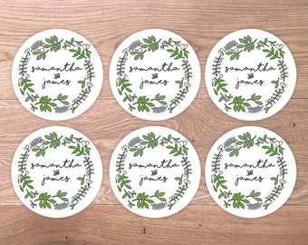 15 x Personalised Wedding Seal Stickers - Custom Save the Date Stickers - Labels Envelope Seals - Save the Date wedding sticker seals