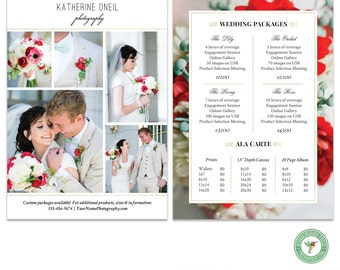 Wedding Price List, Photography Price List, Wedding Packages - Template - MKI04