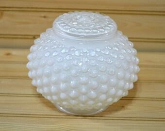 Vintage Light Globe Shade White Hobnail Ceiling Fixture Home Decor