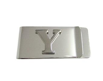 Monogram Letter Y Money Clip