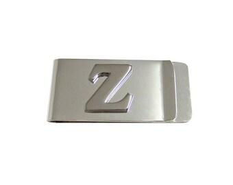 Monogram Letter Z Money Clip
