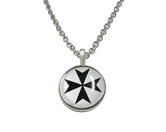 Maltese Cross Pendant Necklace