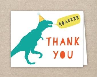 dinosaur thank you card