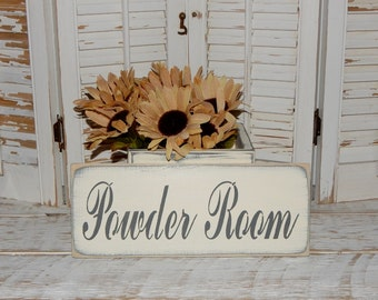 Bathroom Sign Powder Room Sign Wall Decor Country Home Decor Signs