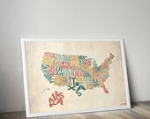 United We Stand - Typography Print