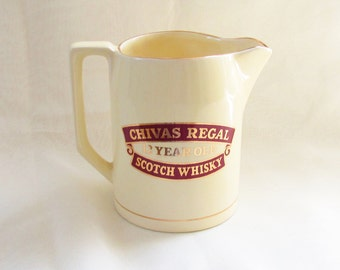 Vintage Wade Pottery Jug Pitcher Chivas Regal Scotch Whiskey
