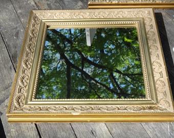 Gold Mirror, Square Mirror, Gold Square Mirror, Embossed Frame, Mirror, Gold Frame, Baroque Frame, Regency Decor, 12 x 12 Mirror, CasaKarma