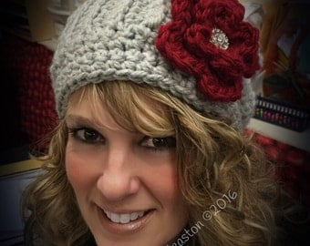 Ravishing and Ribbed Slouchy Crocheted Hat
