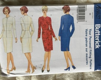 Butterick Misses Fitting Shell and Dress Fashion Sewing Pattern B5627 UC Uncut FF Size 14