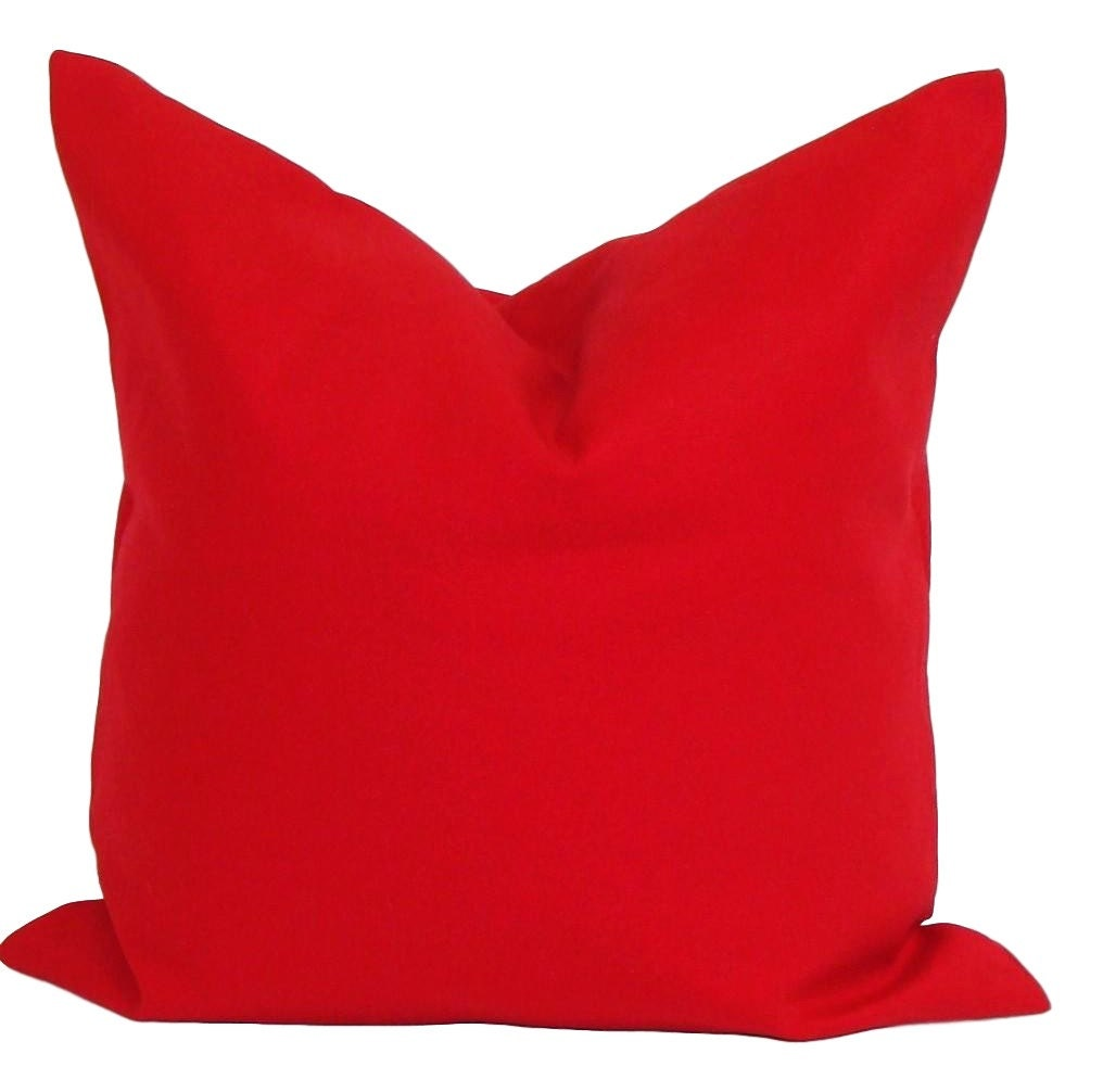 red pillow cover decorative pillow red throw pillow - Red Decorative Pillows