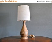 ON SALE Mid Century Table Lamp - Caramel Color