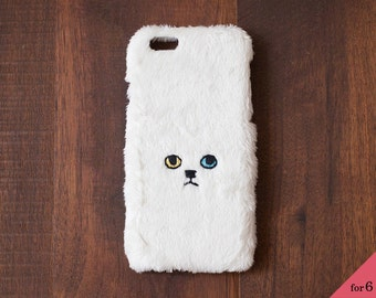 Cat iPhone Cover for iPhone6 / 6s [hard type] White