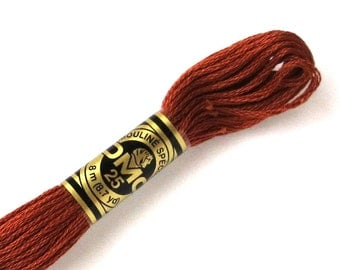DMC 975 Floss - 6 Strand Embroidery Floss - Dark Golden Brown