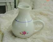 RESERVED for Eve1324 - Vintage Pitcher Floral Ironstone french Country Prairie Cottage Chic