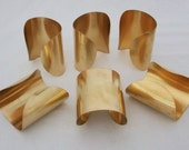 Package of 6 Brass Bracelet Cuff Blanks For Jewelry Making 3 inch