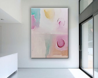 Acrylic Painting - Large Original Abstract Canvas Wall Art by Libby Emi