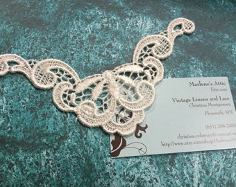 Ivory Venise Lace Yokes Collar Appliques, 1 each for jewelry, bridal, wedding, altered couture, necklaces, bridal by MarlenesAttic - APP112