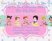 Disney Princess Baby Shower Invitation Download - Disney Princess Invitation - 4 x 6 - Print