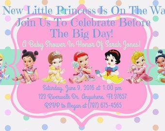 princess disney baby shower invitation download disney princess